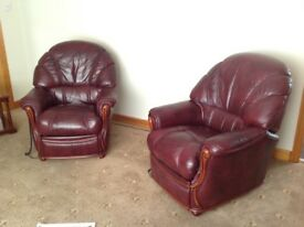 Cappellini 3 seater leather sofa and 2 reclining chairs
