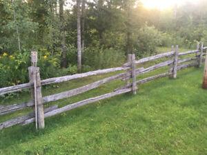 Perches pour clôture