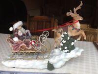Reindeer and Father Christmas on Sleigh, musical