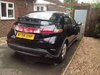 Honda Civic SE 1.4 I-shift 5 door Petrol '07 Black REPAIR OR SPARES