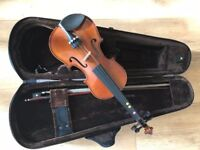 Children's Violin 3\4 size with case and bow