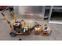 """Evolution Petrol Engine & 3"""" Dirty Water Pump, Generator and High-Pressure Washer"""