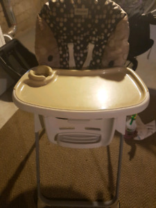 Highchair and tray