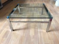Coffee Table - Glass Chrome - 60's / 70's Design