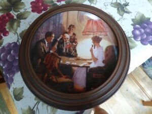 TWO NORMAN ROCKWELL PLATES WITH FRAME