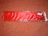 Gloves Evening Party Clubwear Opera Sexy Long Satin Red New Without Tags