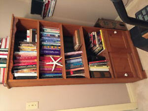 Various wood shelving