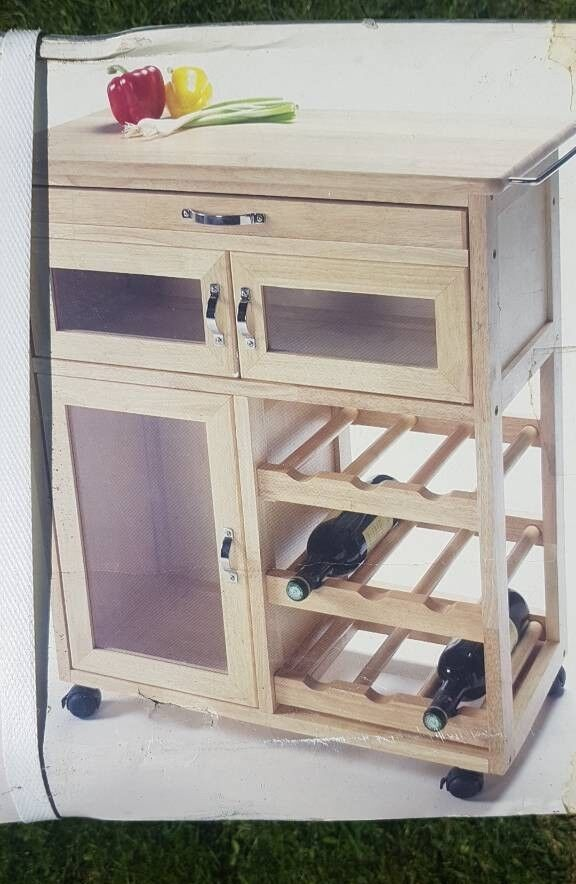 Brand New, Stylish Kitchen Trolley & Wine Rack