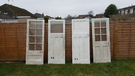8 1930s interior doors 'over panel' and glazed £120 Offers