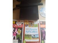 Nintendo wii with 4 games for sale