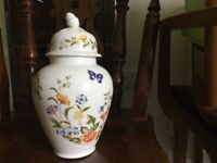 Aynsley Ainsley Cottage Garden China Lidded Jar Height 8in/20cm Circumference 13.5in/34cm