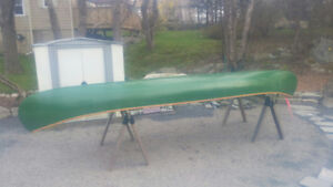 16' Canvas covered canoe