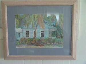 Debbie Chase Van derBol Grand Cayman WATERCOLOUR PEN PRINT COE H