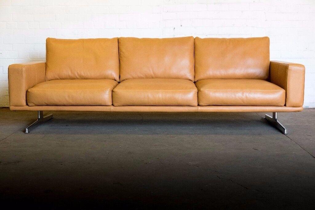 Bespoke boconcept carlton 3 seater sofa in caramel oxford for Sofa bespoke