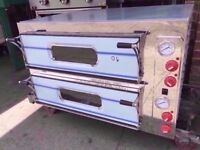 """8 X 13"""" TWIN DECK CATERING OVEN COMMERCIAL MACHINE RESTAURANT BAR KITCHEN TAKEAWAY PUB SHOP CAFE"""