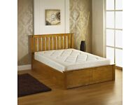 Solid wooden storage bed brand new