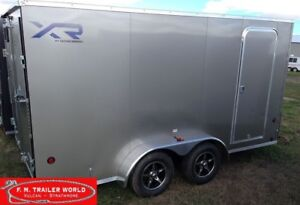 2018 Royal Cargo 7X16 XR Enclosed V Nose 78 High Barn Doors Pewt
