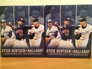 "Stieb, Hentgen and Halladay ""Pitcher's Trio"" Bobblehead SGA BNIB"