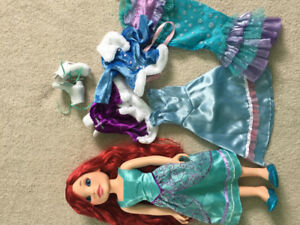 Ariel Doll with extra clothes