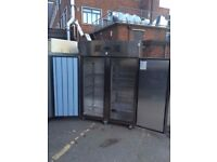 COMMERCIAL DOUBLE DOOR FRIDGE STAINLESS STEEL COMMERCIAL FRIDGE FOSTER FOR SHOP CAFE RESTAURANT