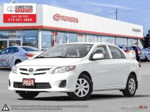 2013 Toyota Corolla CE One Owner, No Accidents