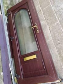 Brown upvc plasic door and frame