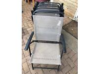 Patio Folding Chairs x6. Very good condition. Can deliver.