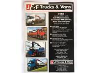 Trucks on contract hire at J&F trucks & vans mallusk