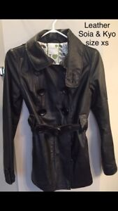 Full leather designer jacket size xs women's
