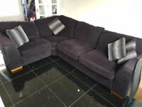 Black Corner sofa and Cuddle couch