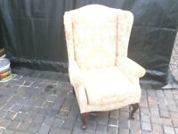 FREE TO GOOD HOME WING BACK CHAIR