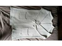 Round neck buttonless cardi in grey - Like new condition