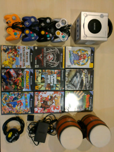 GameCube with games and accessories
