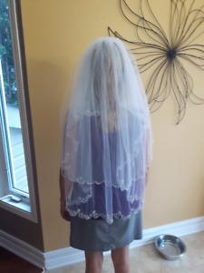 Beautiful White Wedding Veil