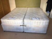 Zip and Lock Queen Size Bed, or two single beds