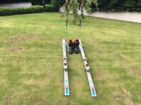 Rossignol skis, Kastinger size 9 boots and poles