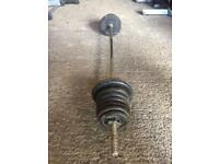 Crane 42kg cast iron barbell set