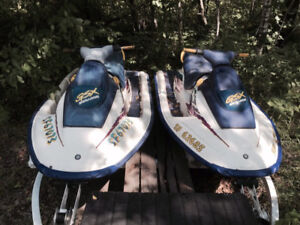 Two 1996 GSX Seadoo's and Two Place Trailer