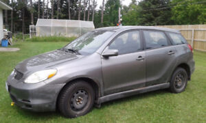 2004 Toyota Matrix 4WDXR SUV, Crossover - Parts car