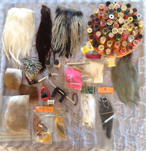 Fishing tackle and fly tying material