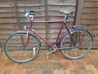 Raleigh Courier vintage classic brooks bike bicycle saddle sturmney archer hub bsa orange peugeot