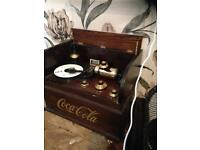 Limited edition Coca'cola phonograph-designed year2003 serial numbered