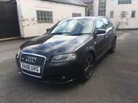 2006 (06) AUDI A3 S LINE 2.0 TDI DSG HATCHBACK IN BLACK