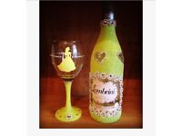 Belle Disney wine glass set