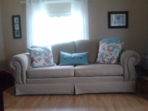 Full Size Sofa and Wing Back Chair
