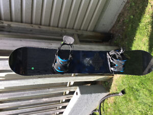 K2 snowboard and bindings