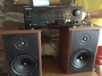 Pioneer Audio/video stereo receiver and homemade speakers