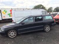 Volvo V70 estate petrol spare parts bumper bonnet leather seats door wing mirrors