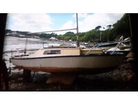 Sailing boat in need of slight tlc