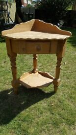 PINE CORNER UNIT FOR UPCYCLING SHABBY CHIC / TELEPHONE TABLE